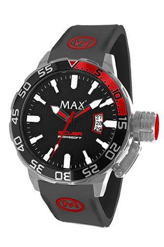 マックス 腕時計 MAX XL WATCHES The Scuba (ザ スクーバ) ブラック(レッドポイント) 5-MAX699
