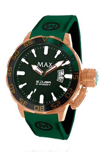 マックス 腕時計 MAX XL WATCHES The Scuba (ザ スクーバ) グリーン×ローズゴールド 5-MAX697