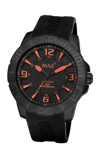 マックス 腕時計 MAX XL WATCHES The Legend 44 (ザ レジェンド44) オールブラック(オレンジポイント) 5-MAX686
