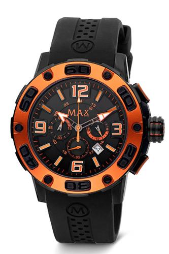 マックス 腕時計 MAX XL WATCHES リミットレス ブラック×オレンジ 5-MAX692