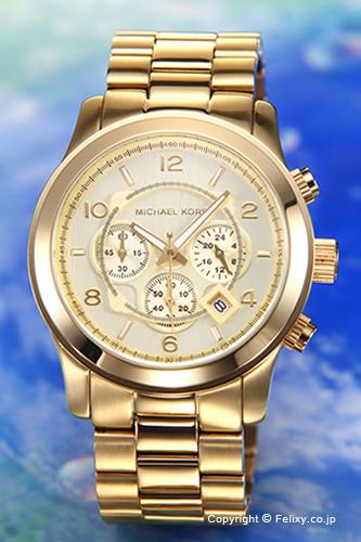 e1b2dea0ae67 MICHAEL KORS Michael Kors men watch Large Runway Chronograph (large orchid  way chronograph) oar gold MK8077