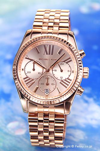 MICHAEL KORS マイケルコース レディース腕時計 Lexington Chronograph (レキシントン クロノグラフ) オールローズゴールド MK5569 【マイケルコース 時計】