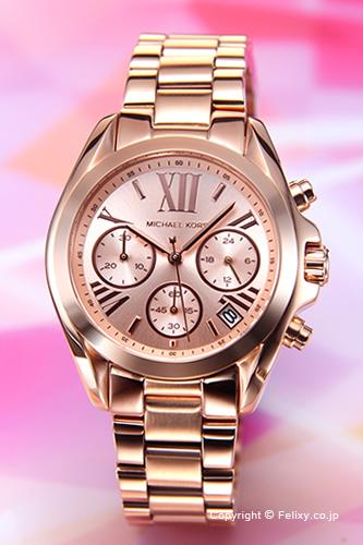 MICHAEL KORS マイケルコース レディース腕時計 Bradshaw Chronograph Mini (ブラッドショー クロノグラフ ミニ) ローズゴールド MK5799 【あす楽】