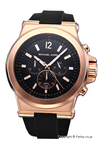 マイケルコース MICHAEL KORS 腕時計 クロノグラフ ブラック×ローズゴールド MK8184