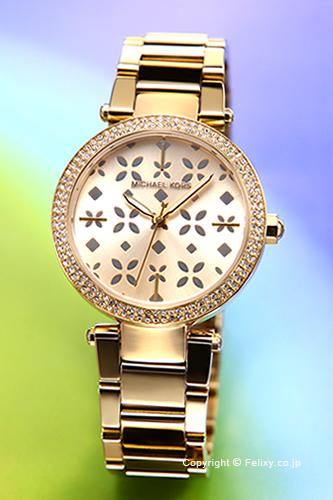 マイケルコース MICHAEL KORS 腕時計 ミニ パーカー フローラル ゴールド(クリスタル) MK6469 【あす楽】