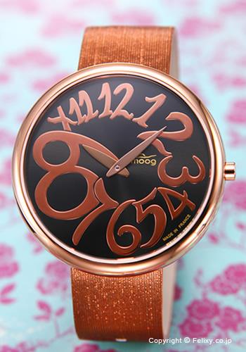 MOOG / ムック 腕時計 Time To Change Round (TTCシリーズ ラウンド) ブラック×ローズゴールド レディース M41671-009 【ムック 腕時計】【あす楽】