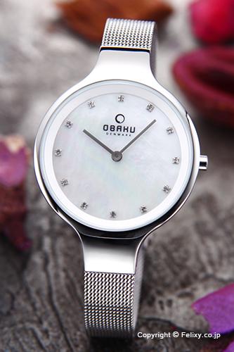オバク 腕時計 レディース OBAKU Denmark V173LXCIMC 【あす楽】