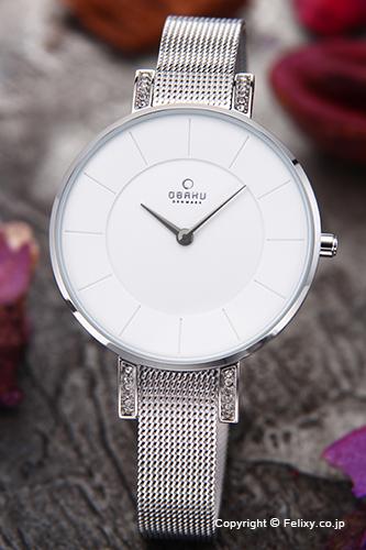 オバク 腕時計 レディース OBAKU Denmark V158LECIMC 【あす楽】