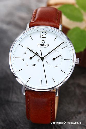 オバク 腕時計 メンズ OBAKU Denmark V182GMCWRN デイデイト 【あす楽】