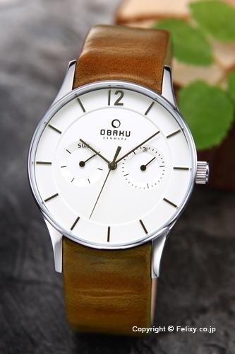 オバク 腕時計 メンズ OBAKU Denmark V175GMCIRN デイデイト 【あす楽】