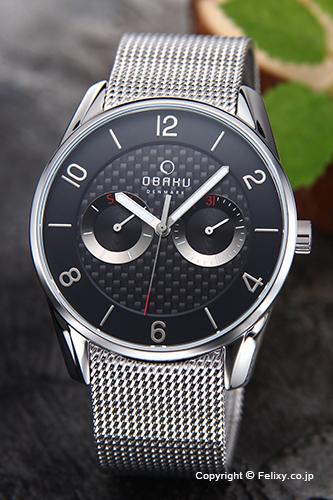 オバク 腕時計 メンズ OBAKU Denmark V171GMCBMC デイデイト 【あす楽】
