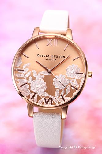 オリビアバートン レディース 時計 OLIVIA BURTON 腕時計 LACE DETAIL BLUSH & ROSE GOLD OB16MV53