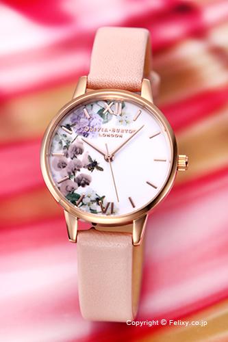 オリビアバートン レディース 時計 OLIVIA BURTON 腕時計 MIDI DUSTY PINK & ROSE GOLD FLORAL OB16EG56 【あす楽】
