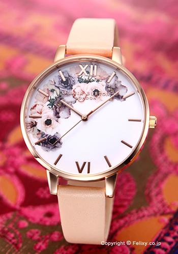 オリビアバートン レディース 時計 OLIVIA BURTON 腕時計 WATERCOLOUR FLORALS NUDE PEACH&ROSE GOLD OB16PP30 【あす楽】