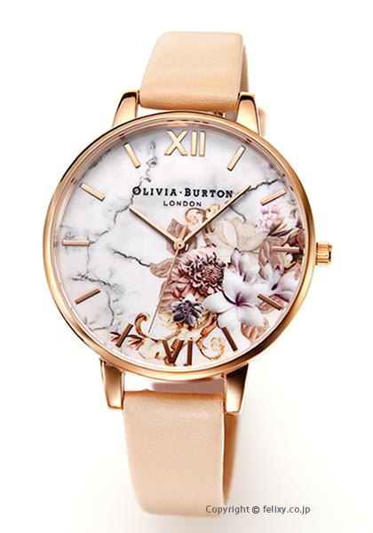 オリビアバートン OLIVIA BURTON 腕時計 MARBLE FLORALS NUDE PEACH & ROSEGOLD OB16CS12 【あす楽】