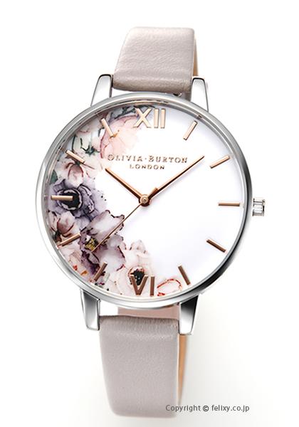オリビアバートン OLIVIA BURTON 腕時計 WATERCOLOUR FLORALS G.LILAC & SILVER OB16PP32【あす楽】