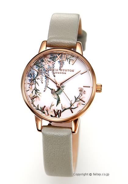 オリビアバートン OLIVIA BURTON 腕時計 PAINTERLY PRINTS GREY & ROSEGOLD OB16PP22 【あす楽】