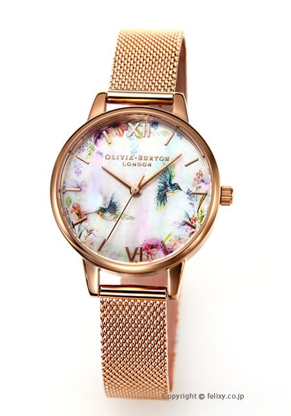 オリビアバートン OLIVIA BURTON 腕時計 PAINTERLY PRINTS & ROSEGOLD MESH OB16PP49 【あす楽】