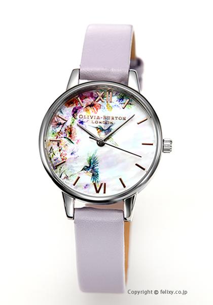 オリビアバートン レディース 時計 OLIVIA BURTON 腕時計 PAINTERLY PRINTS PARMA VIOLET ROSEGOLD & SILVER OB16PP50 【あす楽】