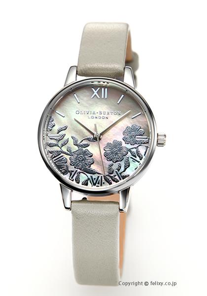 オリビアバートン OLIVIA BURTON 腕時計 LACE DETAIL GREY MOP & SILVER OB16MV93 【あす楽】