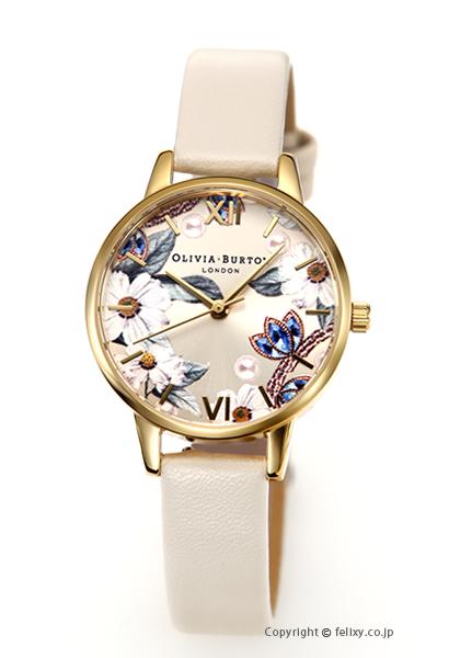 オリビアバートン レディース 時計 OLIVIA BURTON 腕時計 BEJEWELLED FLORAL VEGAN NUDE & GOLD OB16BF14 【あす楽】