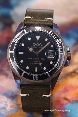 OUT OF ORDER アウトオブオーダー メンズ腕時計 Botticelli 40mm (ボッティチェリ40mm) ダークグリーン 1-2VE 【あす楽】