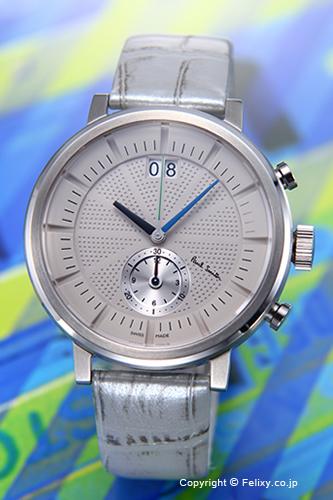 PAUL SMITH ポールスミス メンズ腕時計 BS7-013-90 Chiltern Chronograph (チルターン クロノグラフ) ライトグレー/シルバーレザーストラップ 【あす楽】