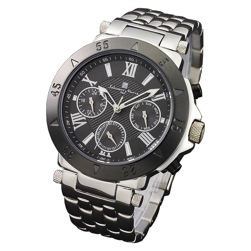Salvatore Marra サルバトーレマーラ メンズ腕時計 ブラック SM14118-SSBK