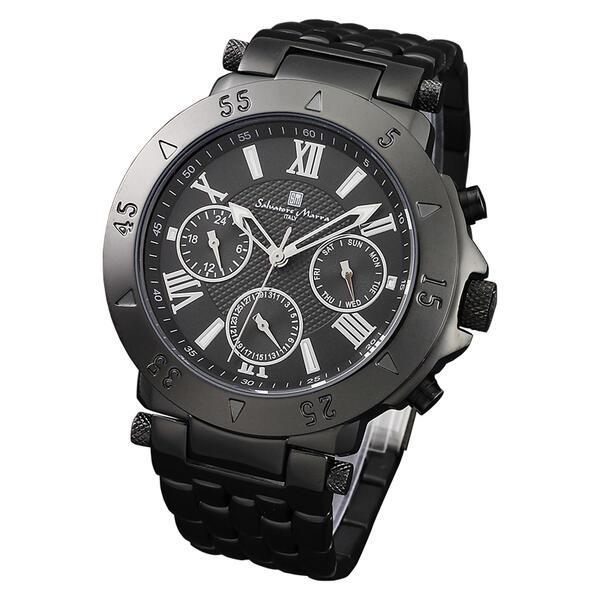 Salvatore Marra サルバトーレマーラ メンズ腕時計 オールブラック SM14118-IPBK