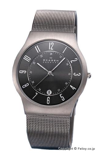 スカーゲン メンズ 時計 SKAGEN 腕時計 233XLTTM グレー