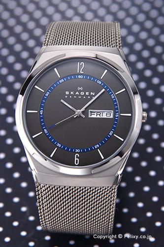 スカーゲン メンズ腕時計 SKAGEN アクティブ グレー×ネイビー SKW6078