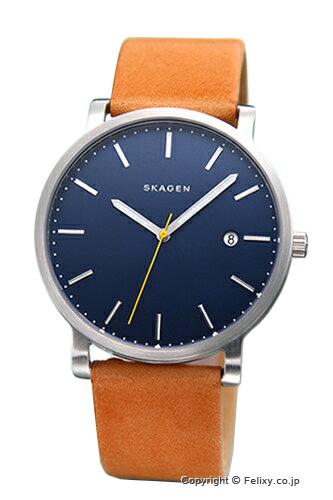 スカーゲン メンズ腕時計 SKAGEN ハーゲン ブルー/ナチュラルストラップ SKW6279