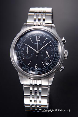ゾンネ 腕時計 SONNE 時計 メンズ ヒストリカル コレクション ブラック HI002BK