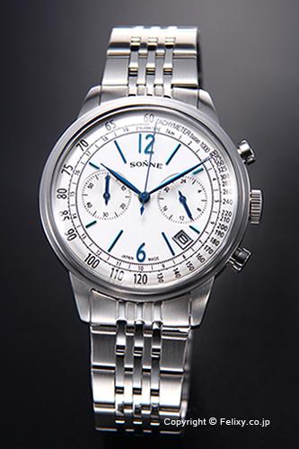 ゾンネ 腕時計 SONNE 時計 メンズ ヒストリカル コレクション シルバー HI002SV