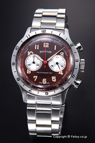 ゾンネ 腕時計 SONNE 時計 メンズ ヒストリカル コレクション ブラウン HI003BR
