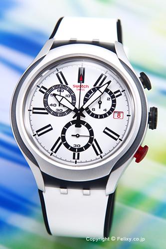 Swatch手表YYS4005 SWATCH Irony Chrono Black Wheel(aironikurono X灯黑色轮罩)白