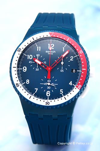 スウォッチ 腕時計 SWATCH SUSN405 New Chrono Plastic(ニュークロノ プラスチック) EL COMANDANTE 【あす楽】