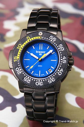 トレーサー TRASER 腕時計 Nautic Steel (ノーティック スティール) ブラック/ブルー P6504.33C.6E.03【トレーサー 時計】