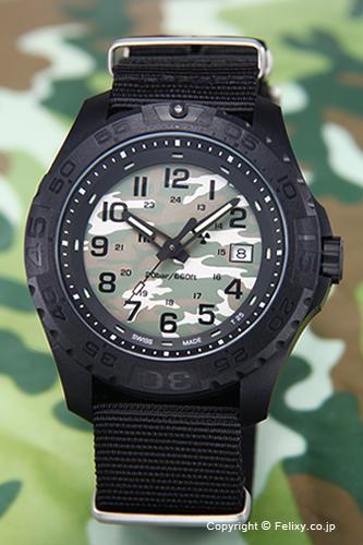 トレーサー TRASER メンズ腕時計 Outdoor Pioneer Camouflage (アウトドア パイオニア カモフラージュ) ブラック 9031562 【トレーサー 時計】
