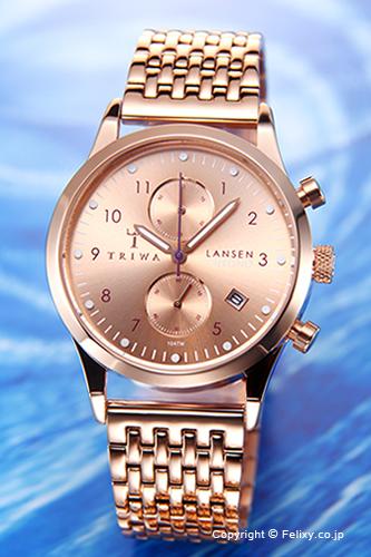 トリワ TRIWA 腕時計 Rose Lansen Chrono (ローズ ランセン クロノ) ブレス LCST104-BR021414【あす楽】