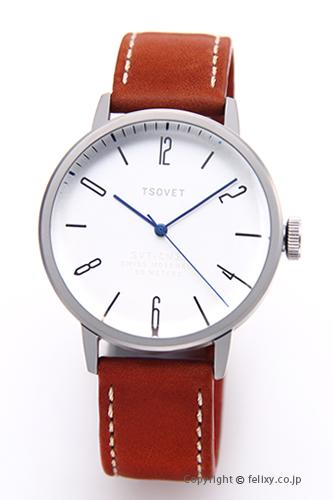 ソベット TSOVET 腕時計 SVT-CN38シリーズ シルバー/ブラウンレザーストラップ CN110111-40 【あす楽】