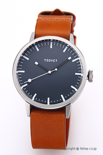 ソベット TSOVET 腕時計 SVT-SC38シリーズ グレー/タンレザーストラップ SC111813-45 【あす楽】
