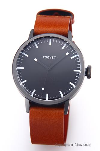 ソベット TSOVET 腕時計 SVT-SC38シリーズ オールブラック/ブラウンレザーストラップ SC221011-45 【あす楽】