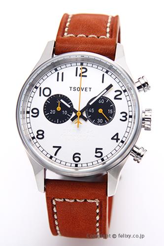 ソベット TSOVET 腕時計 SVT-DE40シリーズ シルバー/ブラウンレザーストラップ DE110113-40 【あす楽】