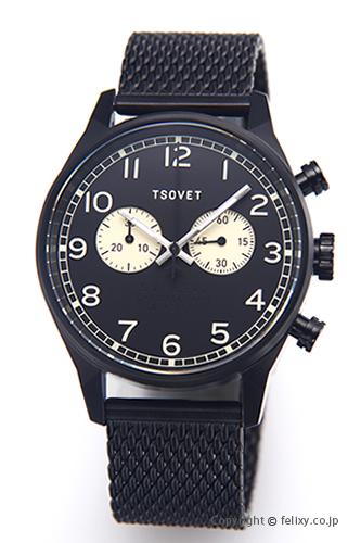 ソベット TSOVET 腕時計 SVT-DE40シリーズ オールブラック DE331003-43 【あす楽】