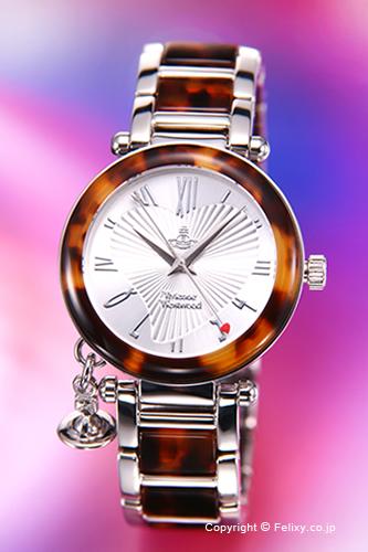 Vivienne Westwood / ヴィヴィアン ウエストウッド 腕時計 Orb (オーブ) シルバー×ブラウントートイズ レディース VV006SLBR 【ヴィヴィアンウエストウッド 時計】
