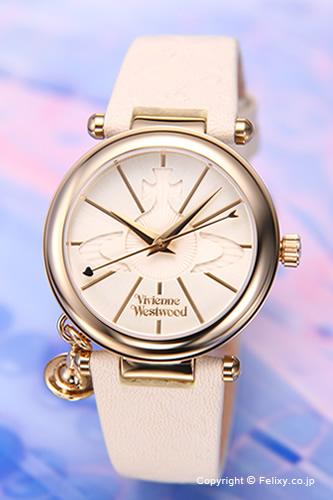 Vivienne Westwood ヴィヴィアンウエストウッド レディース腕時計 ホワイト×ゴールド VV006WHWH