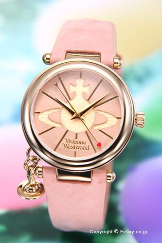 ヴィヴィアンウエストウッド 時計 Vivienne Westwood レディース腕時計 VV006PKPK 【あす楽】