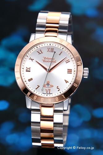 ヴィヴィアン ウエストウッド Vivienne Westwood 腕時計 Bloomsbury (ブルームズベリー) シルバー×ローズゴールド レディス VV152RSSL