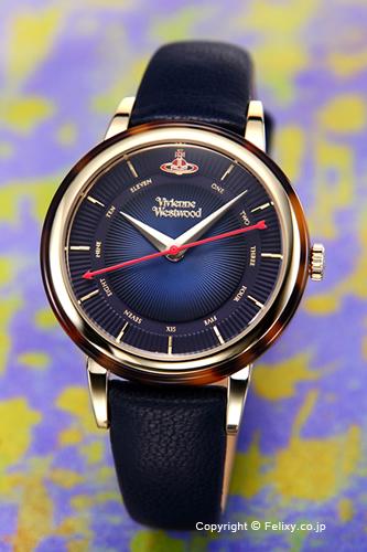ヴィヴィアン ウエストウッド Vivienne Westwood 腕時計 Portobello (ポルトベッロ) ネイビーブルー×ゴールド レディス VV158BLBL